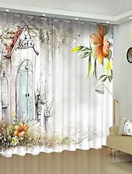 cheap -Simple Style Creative Lily Digital Printing 3D Curtain Shading Curtain High Precision Back Silk Fabric High Quality Curtain
