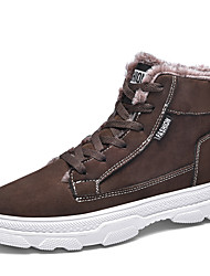 cheap -Men's Combat Boots Faux Leather / Faux Fur Fall / Winter Casual Boots Non-slipping Booties / Ankle Boots Black / Brown / Gray / Outdoor