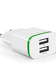 cheap -Fast Charger / Portable Charger USB Charger EU Plug Multi-Output / Normal 2 USB Ports 2 A DC 5V for Universal