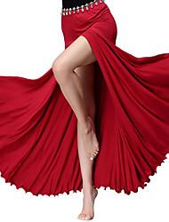 cheap -Belly Dance Bottoms Women's Training / Performance Modal Pleats / Split Natural Skirts
