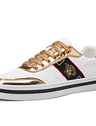cheap -Men's Novelty Shoes PU Spring / Fall & Winter Casual / British Sneakers Walking Shoes Non-slipping Gold / Silver