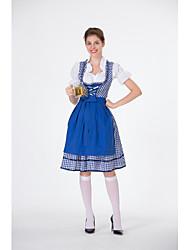 cheap -Bavarian Costume Women's International Halloween Performance Cosplay Costumes Theme Party Costumes Women's Dance Costumes Terylene Lace-up