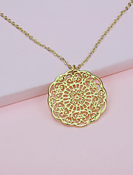 cheap -Women's Pendant Necklace Long Necklace Heart Artistic Romantic Ethnic Boho Acrylic Gold 50 cm Necklace Jewelry 1pc For Carnival Street Holiday Club Festival