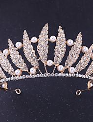 cheap -Rhinestone / Alloy Tiaras with Rhinestone / Pearl 1 Piece Wedding Headpiece