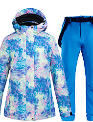 cheap -ARCTIC QUEEN Women's Ski Jacket with Pants Skiing Snowboarding Winter Sports Waterproof Windproof Warm POLY Eco-friendly Polyester Pants / Trousers Tracksuit Top Ski Wear