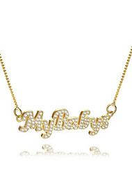 cheap -Personalized Customized Necklace Name Necklace Gift Daily Holiday irregular 1pcs Gold / Laser Engraving