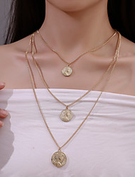 cheap -Women's Pendant Necklace Necklace Classic Vintage European Chrome Gold Silver 43 cm Necklace Jewelry 3pcs For Daily Holiday Street