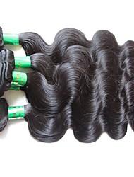 """Недорогие -1 комплект 2 Связки 3 Связки Индийские волосы Естественные кудри Не подвергавшиеся окрашиванию Необработанные натуральные волосы Человека ткет Волосы 10""""~28"""" Нейтральный Ткет человеческих волос"""
