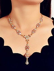 cheap -Women's Necklace Classic Flower Shape Artistic Asian Trendy Fashion Chrome Imitation Diamond Gold 50 cm Necklace Jewelry 1pc For Engagement Gift Daily Club Festival