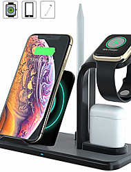 cheap -Upgrade 10W 4-in-1 Fast Wireless Charger Dock Station Wireless Charger Stand Compatible with All Qi Phones AirPods Apple Watch For iPhone XR XS Max 8 Quick Charging Station Charging Bracket