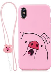 cheap -Case For Apple iPhone XS / iPhone XR / iPhone X Ultra-thin / Pattern Back Cover Animal TPU