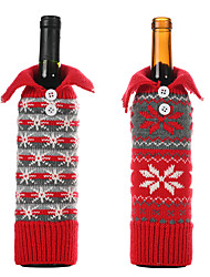 cheap -2pcs  Christmas decorations for home Christmas red wine bottle covers