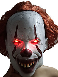 cheap -LED Mask Masquerade Halloween Mask Inspired by Burlesque Clown Clown Scary Movie White LED Costume Party Halloween Carnival Masquerade Adults' Men's Women's
