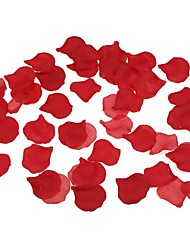 cheap -100pcs Pack Red Rose Petals Wedding Party Silk Heart Shaped Decoration Flower