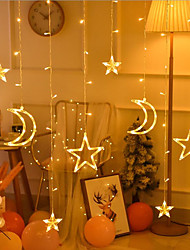 cheap -LED Flashing Lights String Lights Icicle Curtain Lights Festive Christmas Wedding Decoration Lights Star Lights Five-pointed Star Lights