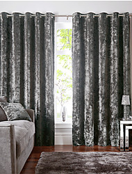 cheap -Two Panel Nordic Luxury Style High-Grade Flannel Blackout Curtains Living Room Bedroom Dining Room Curtains