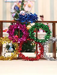 Недорогие -елочные украшения цветные полоски железные звезды ротанг многоцветный рождественская свадьба