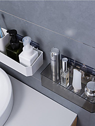 cheap -Strong Viscosity Adhesive Bathroom Accessories Set Without Drilling Kitchen Holder Home Storage Rack PV12-2pcs