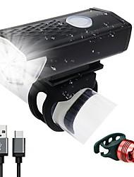 Недорогие -Светодиодная лампа Велосипедные фары Передняя фара для велосипеда LED Велоспорт Велоспорт Водонепроницаемый Поворот на 360° Перезаряжаемая батарея 300 lm Работает от USB Велосипедный спорт