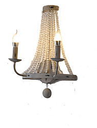 cheap -Crystal / Creative Vintage / Country Wall Lamps & Sconces Dining Room / Shops / Cafes Metal Wall Light 110-120V / 220-240V