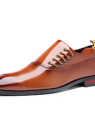 cheap -Men's Formal Shoes PU Spring & Summer / Fall & Winter Casual / British Oxfords Black / Yellow / Burgundy / Party & Evening