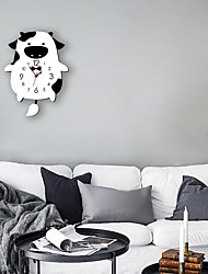 cheap -M.Sparkling 2019 children's cartoon swing wall clock modern home decoration clock creative animal pendulum clock