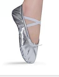 cheap -Girls' Dance Shoes Satin Ballet Shoes Sneaker Flat Heel Gold / Silver