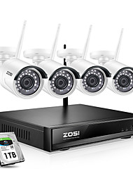 cheap -ZOSI 8 CH 1080P H.265 Wireless NVR Security Camera Kit with 1080P Wireless Weatherproof PAL / NTSC Day Night Vision IP Camera Home Security System