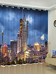 cheap -Modern High-rise Building Digital Printing 3D Curtain Shading Curtain High Precision Black Silk Cloth High Quality Curtain