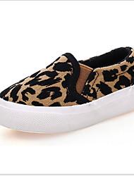 cheap -Girls' Comfort Canvas Sneakers Little Kids(4-7ys) White / Leopard Summer