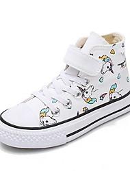 cheap -Girls' Comfort Canvas Sneakers Little Kids(4-7ys) White / Black Summer