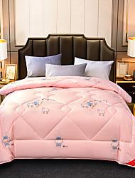Недорогие -удобный - 1 одеяло Зима Полиэстер / Шерсть Цветочный принт
