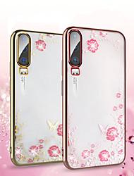 Недорогие -блеск алмаза цветок бабочка чехол для huawei p30 pro p20 lite mate 30 pro mate 20 pro y6 y9 2019 honor 20 pro honor 10 lite honor 8x чехол для телефона роскошный кристально чистый мягкий силиконовый