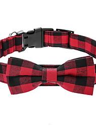 abordables -Chiens Colliers Hiver Vêtements pour Chien Noir Blanche Costume Polyester Nœud papillon Cosplay Noël S M L