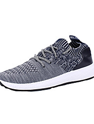 cheap -Men's Comfort Shoes Canvas Fall Casual Athletic Shoes Running Shoes Breathable Striped Black / Dark Grey / Gray / Color Block