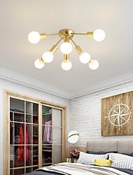 cheap -8 Heads 80cm LED Ceiling Light Nordic Style Gold Modern Flush Mount Lights Metal Painted Finishes 110-120V 220-240V E26 E27