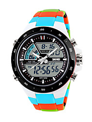 cheap -Men's Sport Watch Smartwatch Wrist Watch Digital Quilted PU Leather Multi-Colored 30 m Water Resistant / Waterproof Calendar / date / day Chronograph Analog - Digital Charm Fashion Elegant Dress