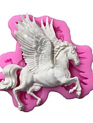 Недорогие -3d лошадь силиконовые формы единорог помадка выпечки пегас торт отделочных работ