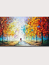 cheap -Oil Painting Hand Painted Horizontal Landscape Abstract Landscape Modern Stretched Canvas