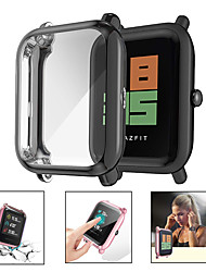 cheap -Soft Plating TPU Protective Clear Watch Case For Huami Amazfit Bip Youth Case Cover Shell Screen Protector