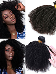 cheap -1 Bundle Hair Weaves Brazilian Hair Afro Curly Human Hair Extensions Virgin Human Hair 100 g Natural Color Hair Weaves / Hair Bulk Afro Kinky Braids 8-26 inch Natural Best Quality 100% Virgin / 10A