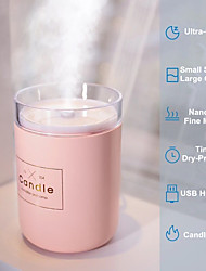 cheap -Humidificador de aire ultrasnico de 280ML vela romntica luz suave difusor de aceite esencial USB purificador de coche Aroma anin fabricante de niebla