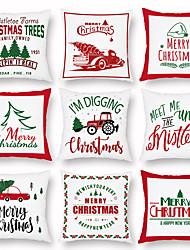 cheap -Christmas Christmas Tree Cartoon Car Pillow Case Digital Print Pillow Case Air Conditioning Pillow Slipcover
