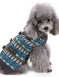 cheap -Cat Dog Coat Sweater Christmas Winter Dog Clothes Red Blue Costume Spandex Cotton / Linen Blend Plaid / Check Party Cosplay Casual / Daily XXS XS S M L XL