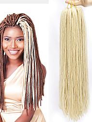 cheap -Faux Locs Dreadlocks Senegalese Twist Box Braids Natural Color Synthetic Hair Braiding Hair 4 Pieces