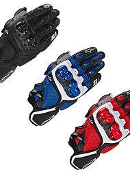 cheap -Motorcycle Gloves - Hard Knuckle Gloves with Antiskid Grip - Men/Women Leather Motorcycle Gloves Breathable