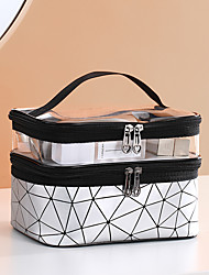 cheap -Travel Luggage Organizer / Packing Organizer Totes & Cosmetic Bags Cosmetic Bag Multifunctional Large Capacity Waterproof Portable Simple Transparent PU Leather PVC(PolyVinyl Chloride) For Casual