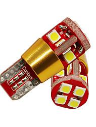 Недорогие -2 шт. T10 w5w 3030 12 smd авто лампы 168 194 лампочка постоянного тока canbus пластина габаритный фонарь стайлинга автомобилей dc12-24v белый