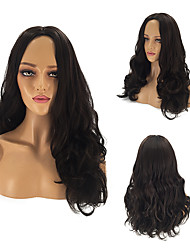 cheap -Synthetic Wig Straight Kardashian Middle Part Wig Long Black#1B Synthetic Hair 26 inch Women's Party Classic Synthetic Black / African American Wig / For Black Women