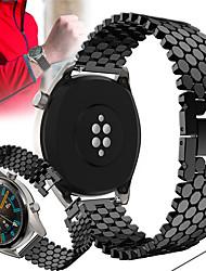 abordables -22mm bracelet en métal bande de montre pour montre huawei gt active / gt 2 46mm / montre 2 pro / honneur magique bracelet remplaçable bracelet